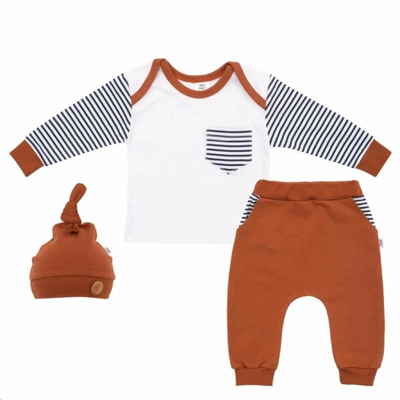 Baba szett New Baby - nadrág, póló és sapka