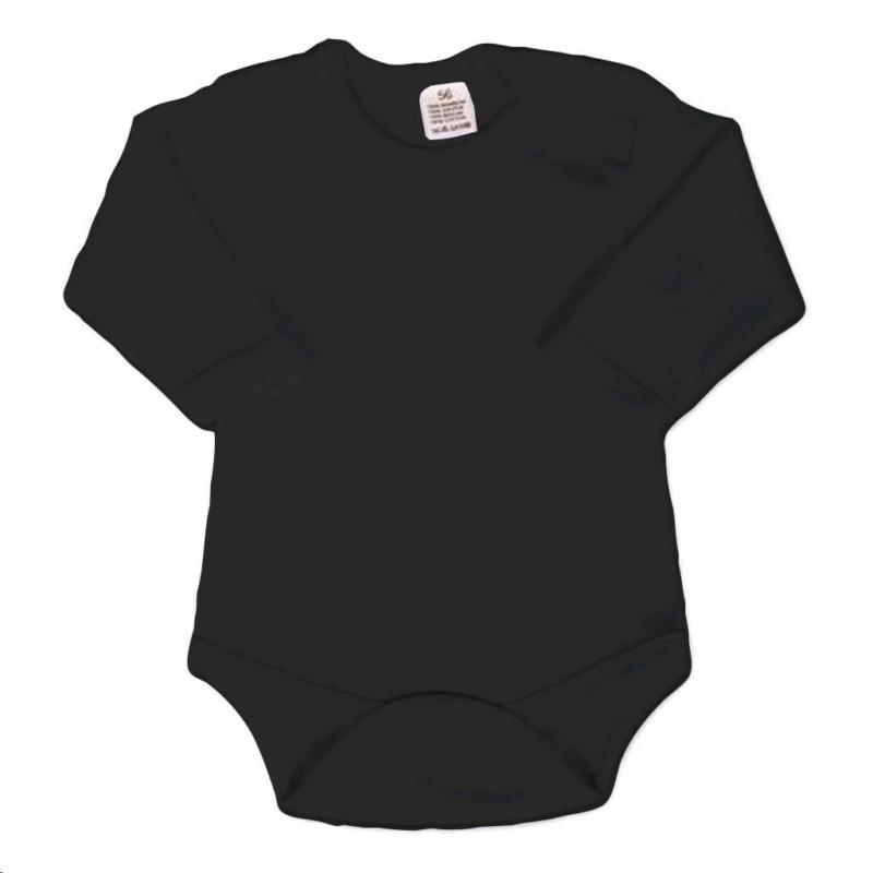 Hosszú ujjú body New Baby - fekete