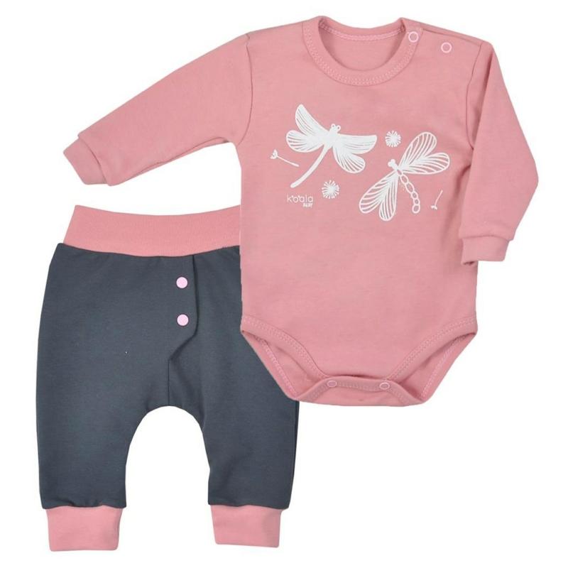 Baba szett Koala- - nadrág és body, rózsaszín
