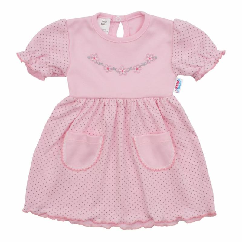 Babaruha New Baby - pöttyös, rózsaszín