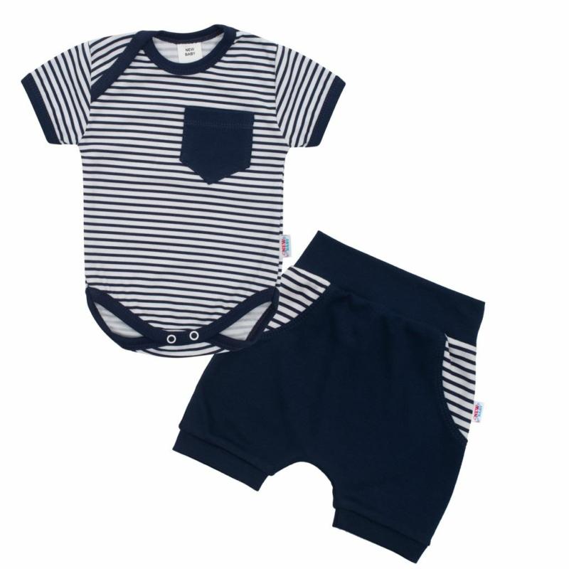 Pamut baba szett New Baby - body és rövidnadrág