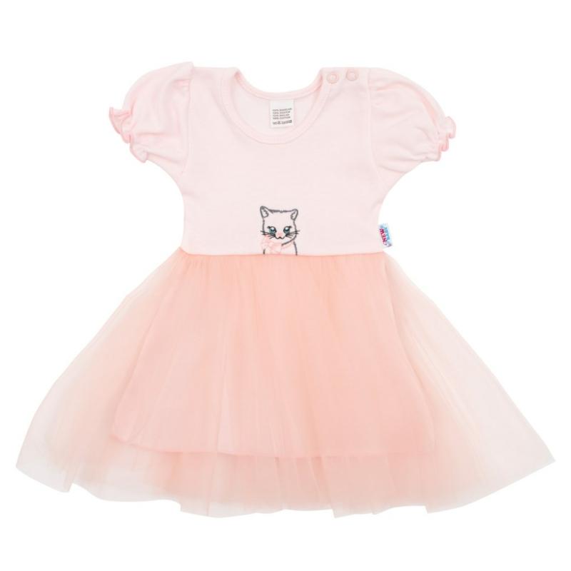 Babaruha tüll szoknyával New Baby - rózsaszín
