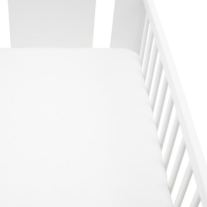 Jersey lepedő kiságyba New Baby 120x60 fehér