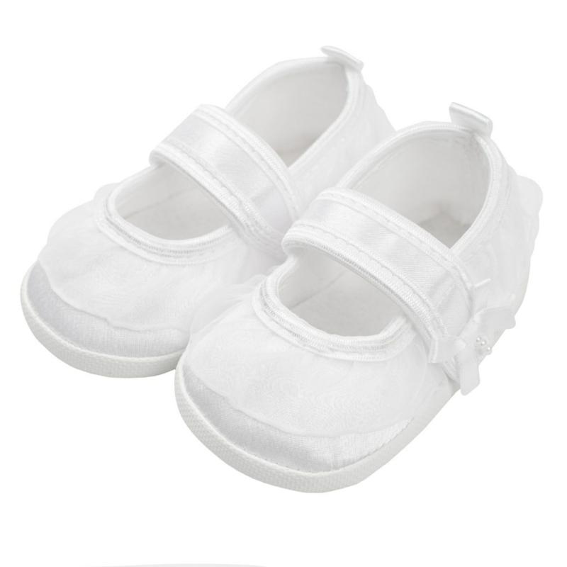 Baba lány cipő New Baby - szatén, fehér