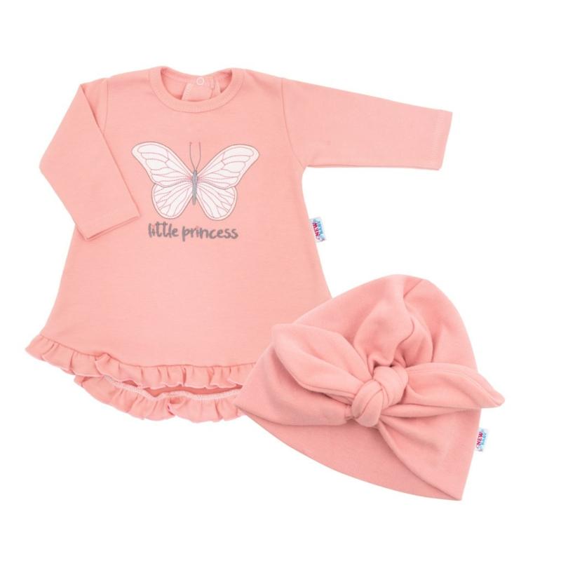 Babaruha és sapka New Baby - rózsaszín