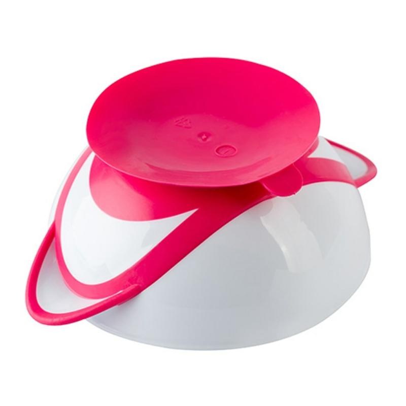 Csúszásgatló tál kanállal Baby Ono rózsaszín