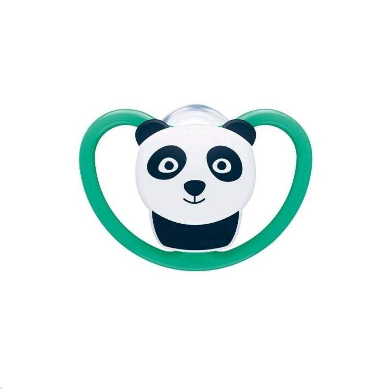 Baba cumi Space NUK 6-18h panda, tárolódobozzal