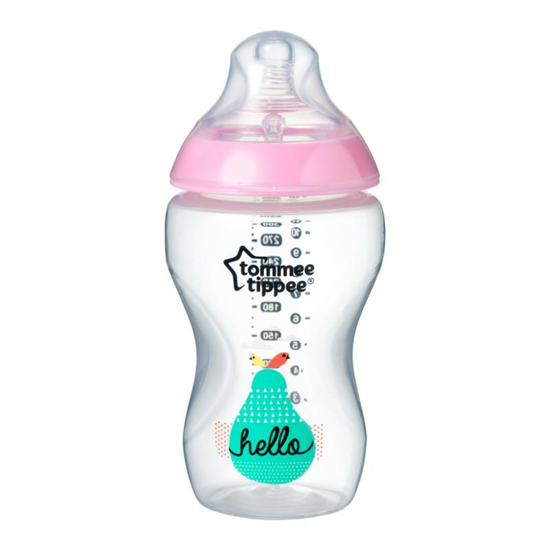 Tommee Tippee Közelebb a természeteshez BPA-mentes cumisüveg 340ml színes rózsaszín