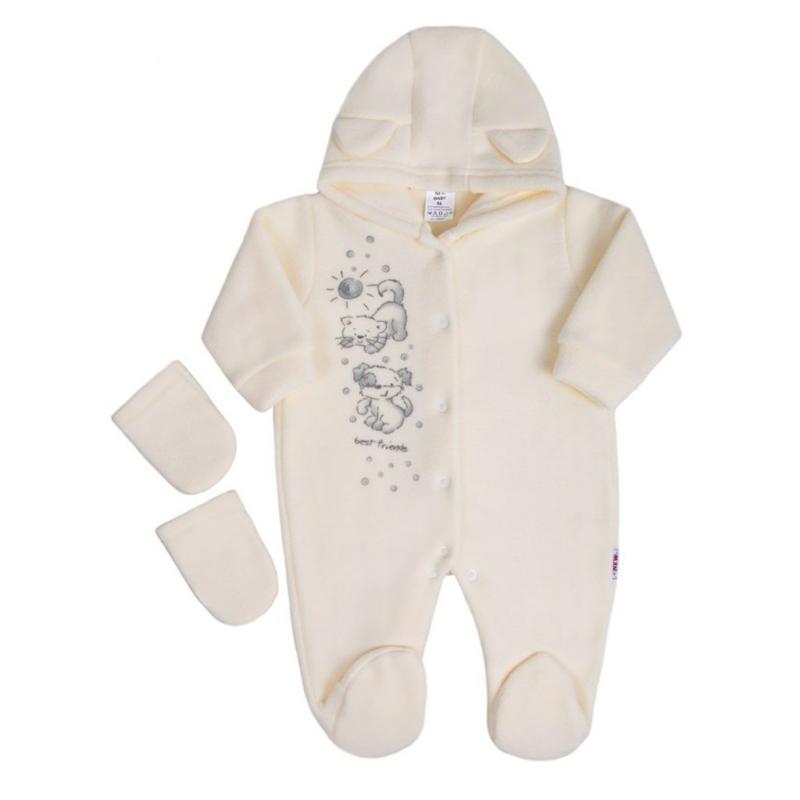 Gyapjú overál New Baby - krém színű