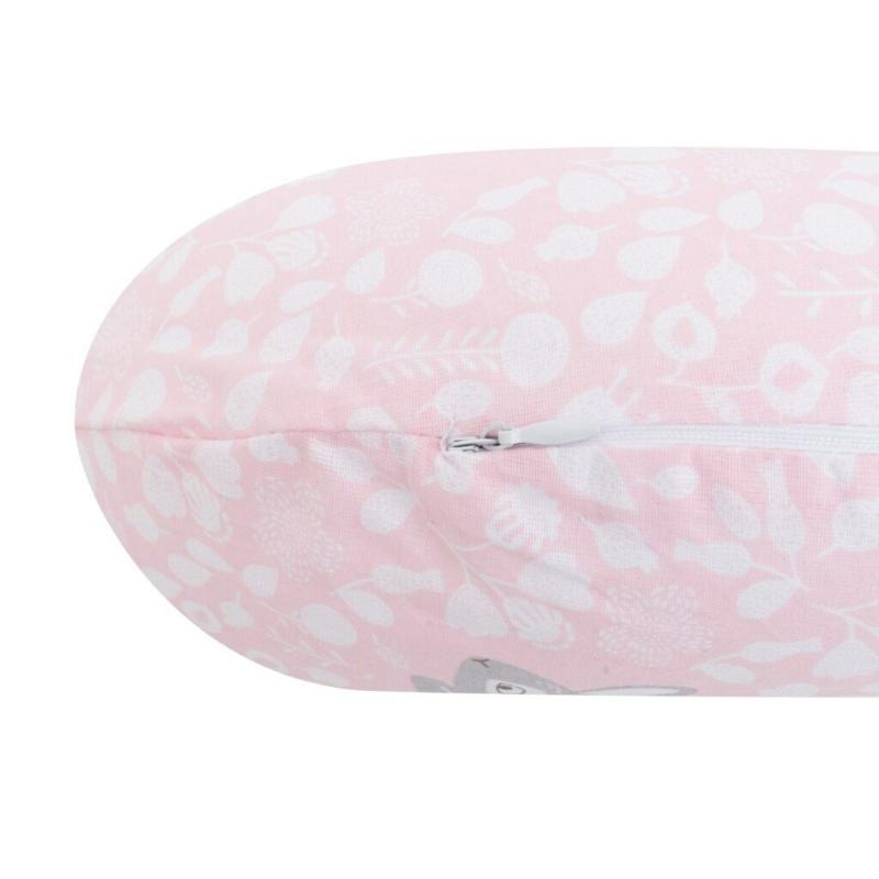 Univerzális szoptatós párna C alakú New Baby - mintás, rózsaszín